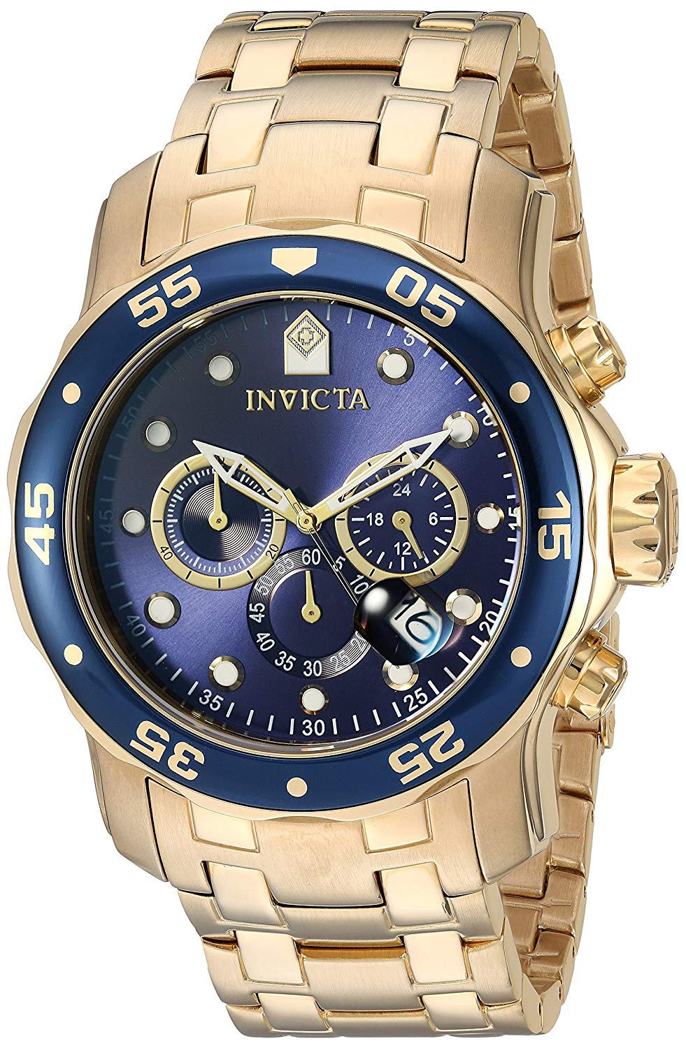Invicta Pro Diver Rose Gold-Tone Stainless Steel  Chronograph Mens Watch 0073