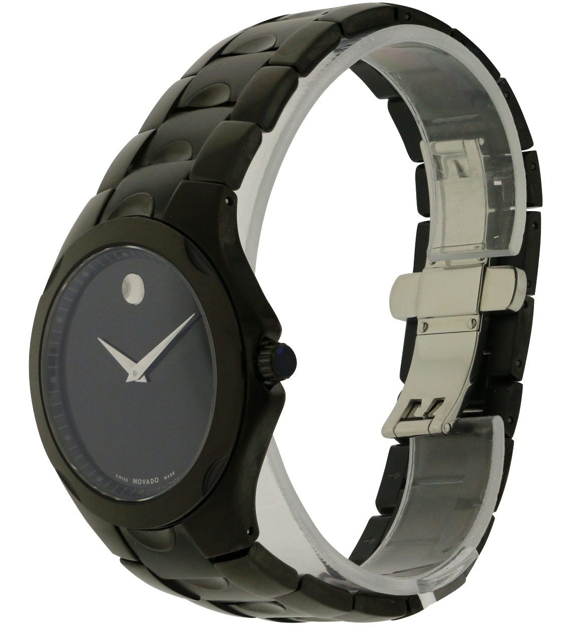 steel bz watch silver watches stainless marcus sport prod p movado luno neiman black