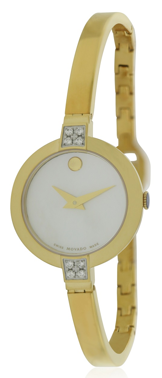 Movado Bela Gold-Tone Stainless Steel Ladies Watch 0607000