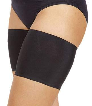 Bandelettes Elastic Anti-Chafing Thigh Bands - Prevent Thigh Chafing - Black Unisex - Size B
