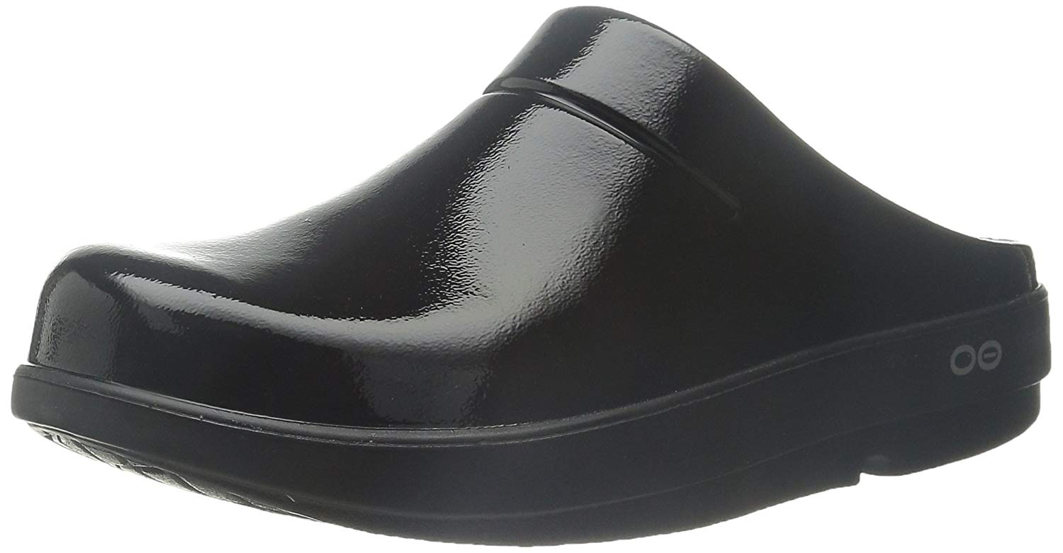 OOFOS - Unisex OOCloog - Post Run Sports Recovery Clog - Black/Matte Finish - M10/W12