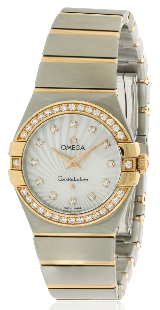 Omega Constellation Stainless Steel Ladies Watch 123.25.27.60.55.002
