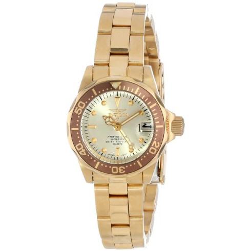 Invicta Pro Diver Gold Ion Ladies Watch 12527