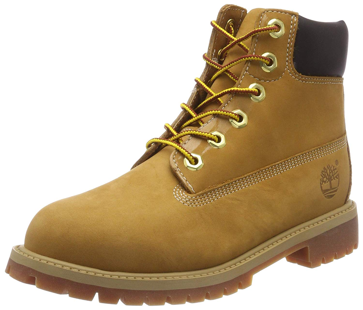 Timberland Boys 6 inch Premium Waterproof Boot Core (Toddler/Little Kid) Wheat Nubuck 6.5