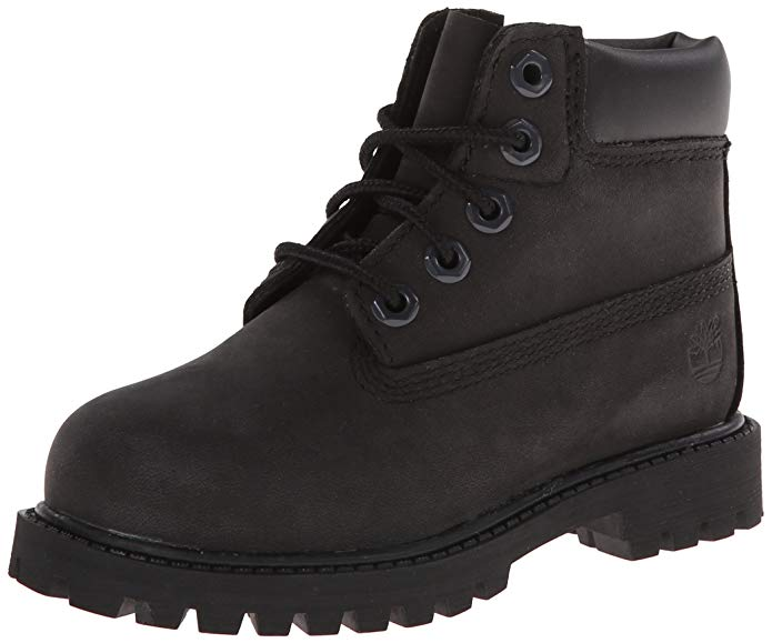 Timberland 6-Inch Premium Waterproof-K Boot - Black Nubuck - 5.5 Little Kid/Big Kid