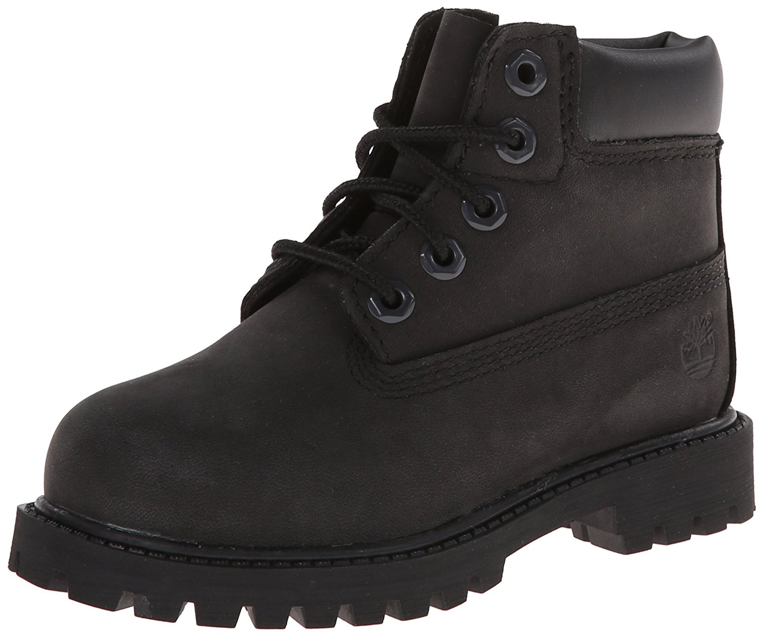 Timberland 6-inch Premium Waterproof-K Boot - Black Nubuck - 6 M Big Kid