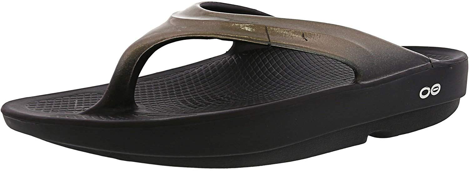 OOFOS Womens OOlala Post Exercise Active Sport Recovery Thong Sandal - Latte - M3/W5