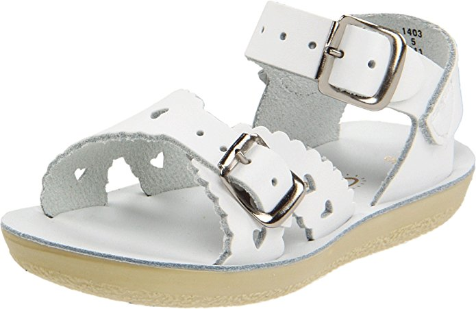 Salt Water Sandals by Hoy Sweetheart - White - 6 Toddler