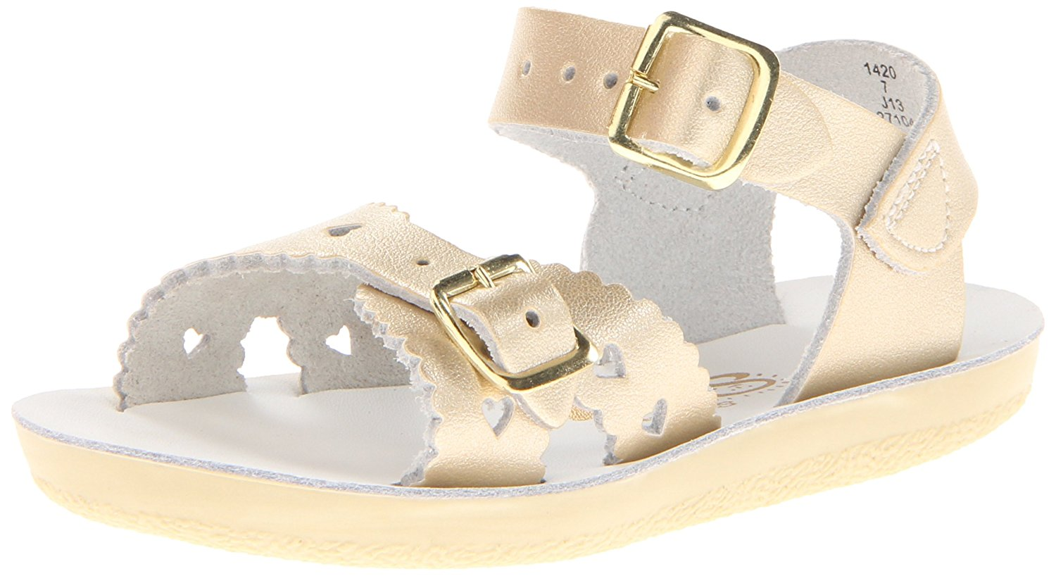 Salt Water Sandals by Hoy Sweetheart - Gold - 6 Toddler