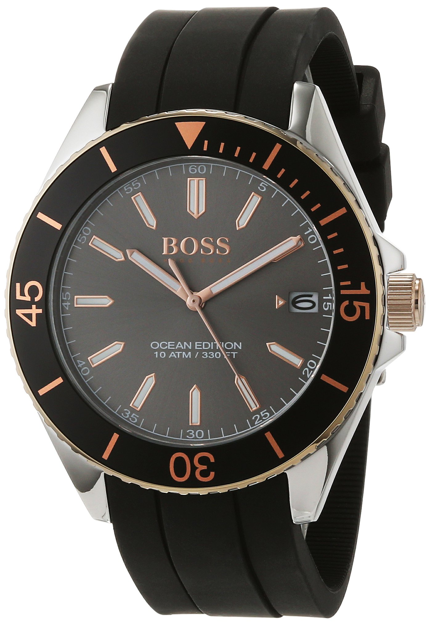Hugo Boss Black Silicone Mens Watch 1513558