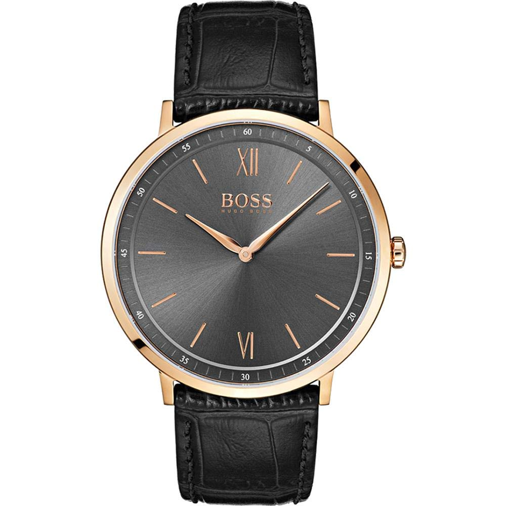 Hugo Boss Essential Black Leather Mens Watch 1513649