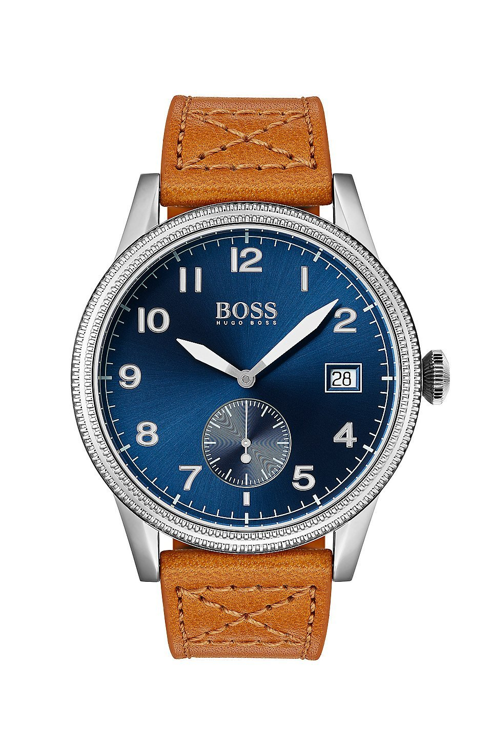 Hugo Boss Legacy Brown Leather Mens Watch 1513668
