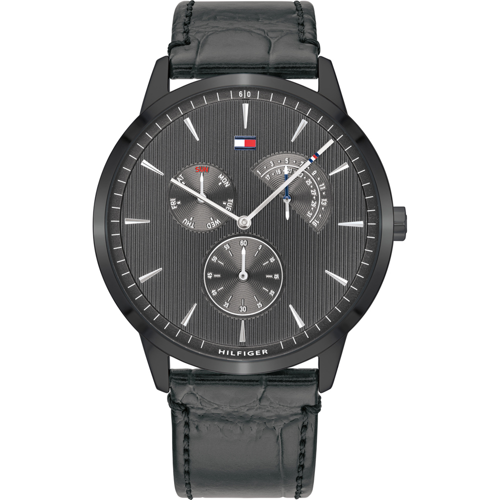 Tommy Hilfiger Brad Multifunction Leather Mens Watch 1710388