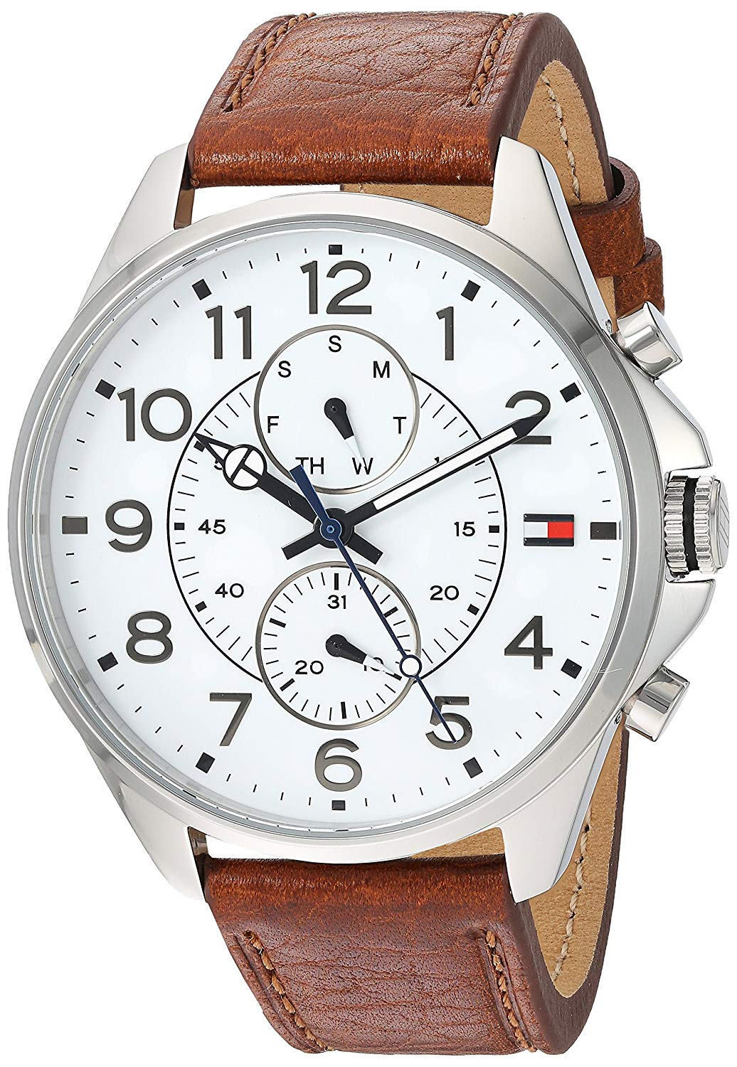 Tommy Hilfiger Brown Leather Mens Watch 1791274
