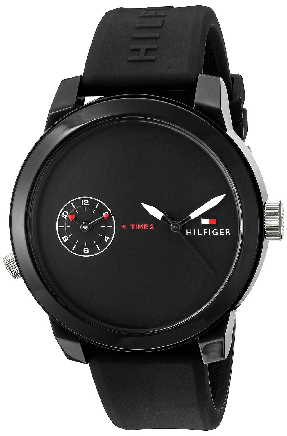 Tommy Hilfiger Cool Sport Black Silicone Mens Watch 1791326