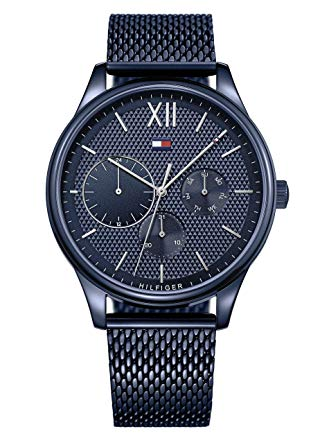 Tommy Hilfiger Blue Stainless Steel Mesh Mens Watch 1791421