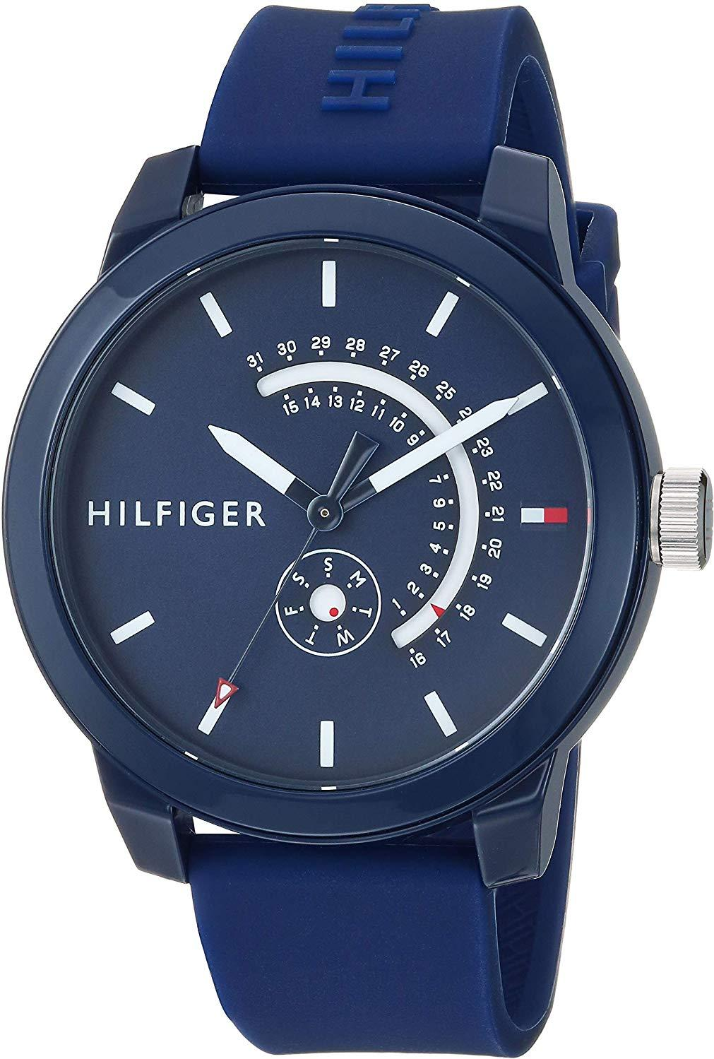 Tommy Hilfiger Blue Sport Silicone Mens Watch 1791482