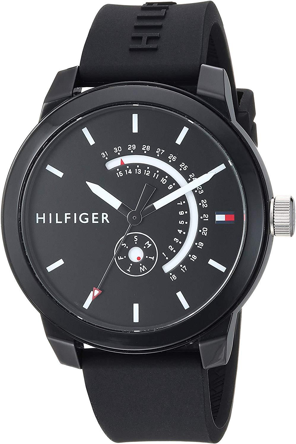 Tommy Hilfiger Black Sport Silicone Mens Watch 1791483