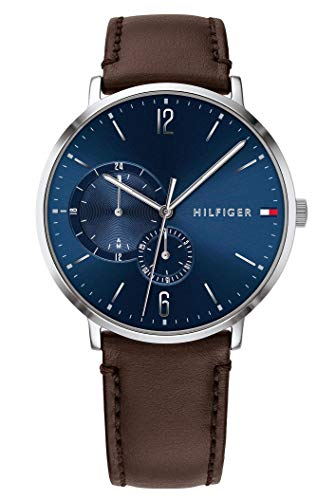 Tommy Hilfiger Brown Leather Mens Watch 1791508