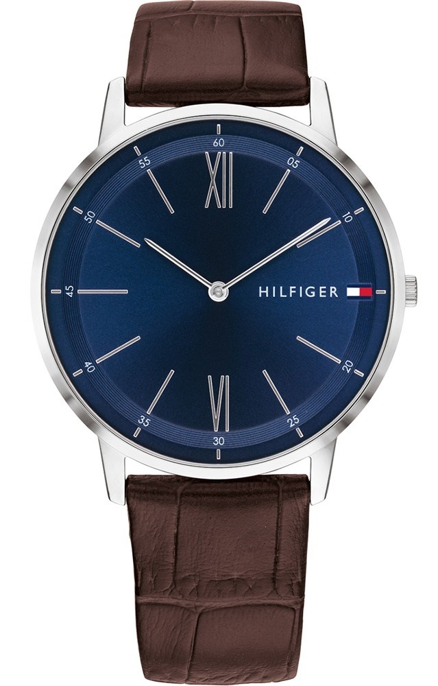 Tommy Hilfiger Brown Leather Mens Watch 1791514