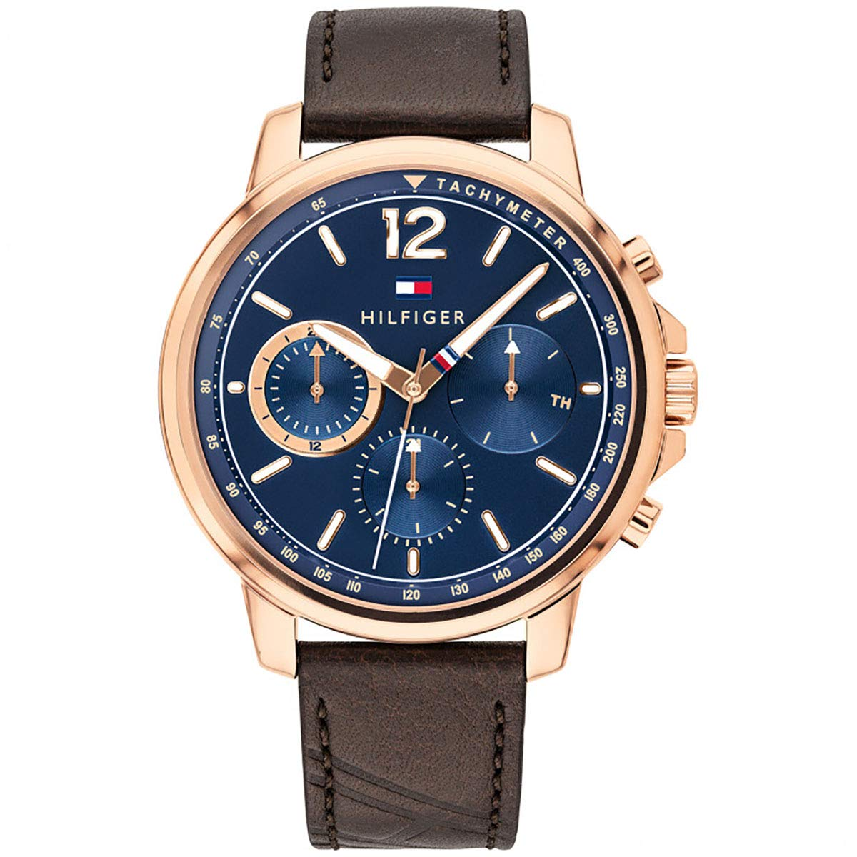 Tommy Hilfiger Brown Leather Mens Watch 1791532