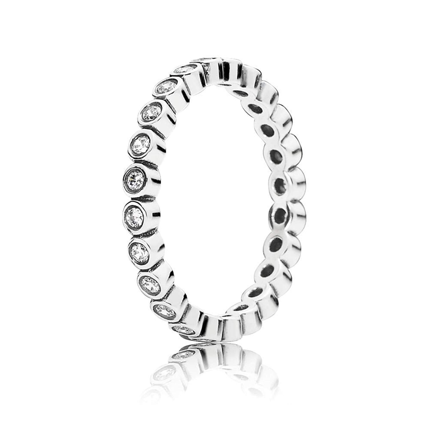 PANDORA Alluring Petite Brilliant Stackable Ring - Clear CZ - 190941CZ-50