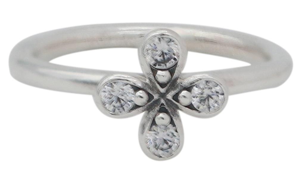 df66c3316 PANDORA Four-Petal Flower Ring - 48, Solar Time Inc