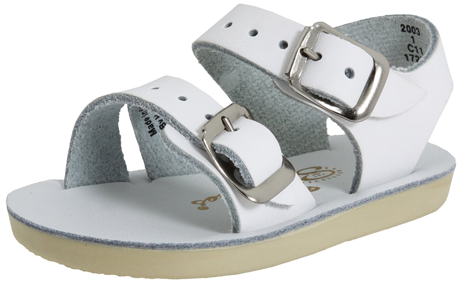 Salt Water Sandals by Hoy Sea Wees - White - 2 Infant