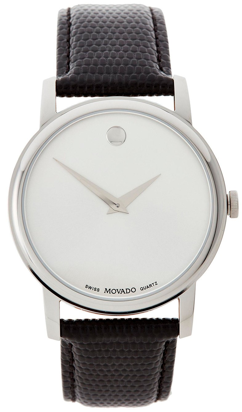 Movado Museum Leather Mens Watch 2100001