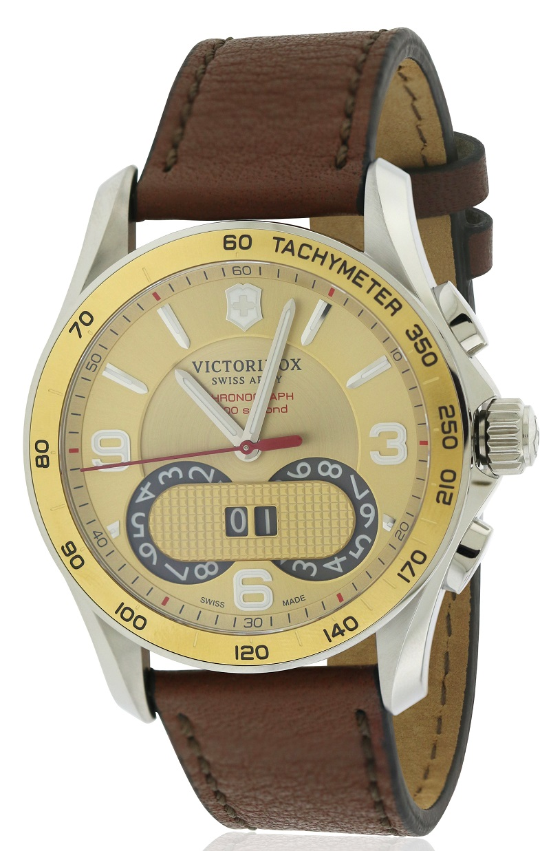 Swiss Army Victorinox Chronograph Leather Mens Watch 241617