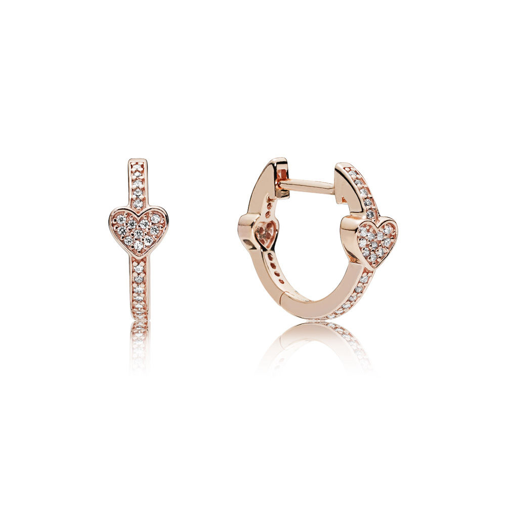 PANDORA Alluring Hearts Hoop Earrings - 287290CZ