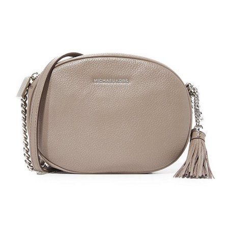 34801bcd7db8 Michael Kors Ginny Medium Leather Crossbody Bag - Cinder- 30H6SGNM2L-513,  Solar Time Inc