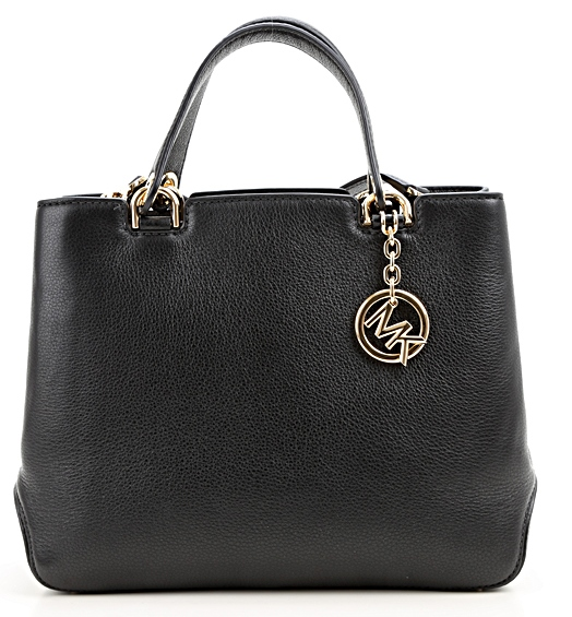 0d1d196d14eb Michael Kors Anabelle Medium Top-Zip Leather Tote Bag - Black -  30S6GAPT2L-001