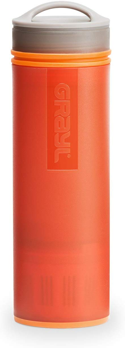 GRAYL Ultralight Water Purifier Bottle + Filter - Orange