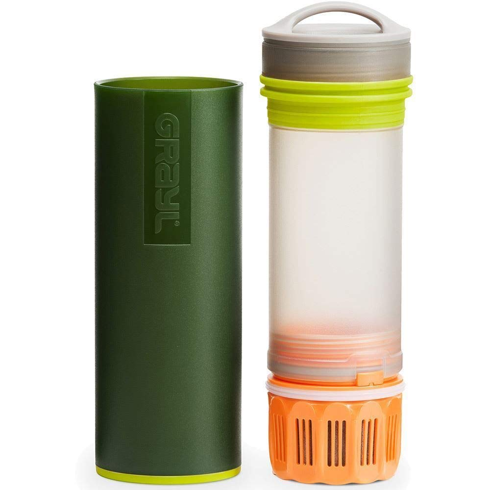 GRAYL Ultralight Water Purifier Bottle + Filter - Green