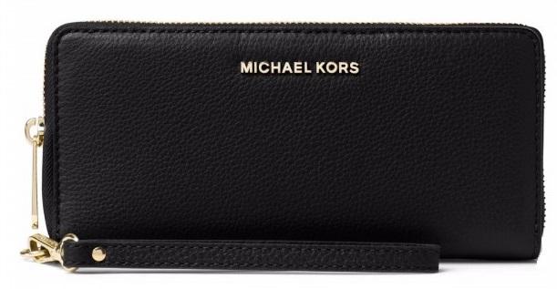 b3f39c210600 Michael Kors Mercer Leather Wristlet - Black - 32F6GM9E9L-001