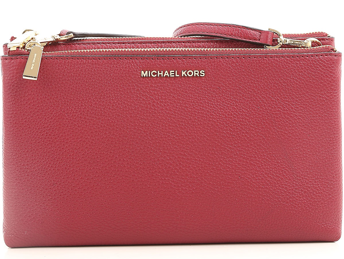 Michael Kors Adele Leather Crossbody - Mulberry - 32S7GAFC3L-666