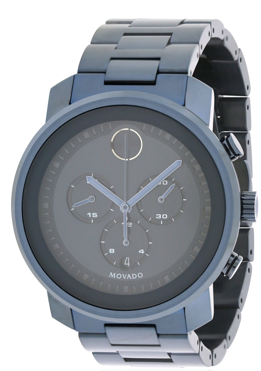 Movado Bold Blue Ion Chronograph Mens Watch 3600279