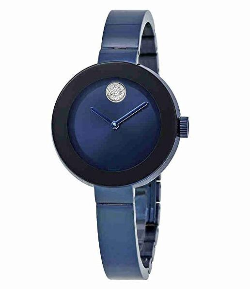 Movado Bold Blue Ion Ladies Watch 3600425