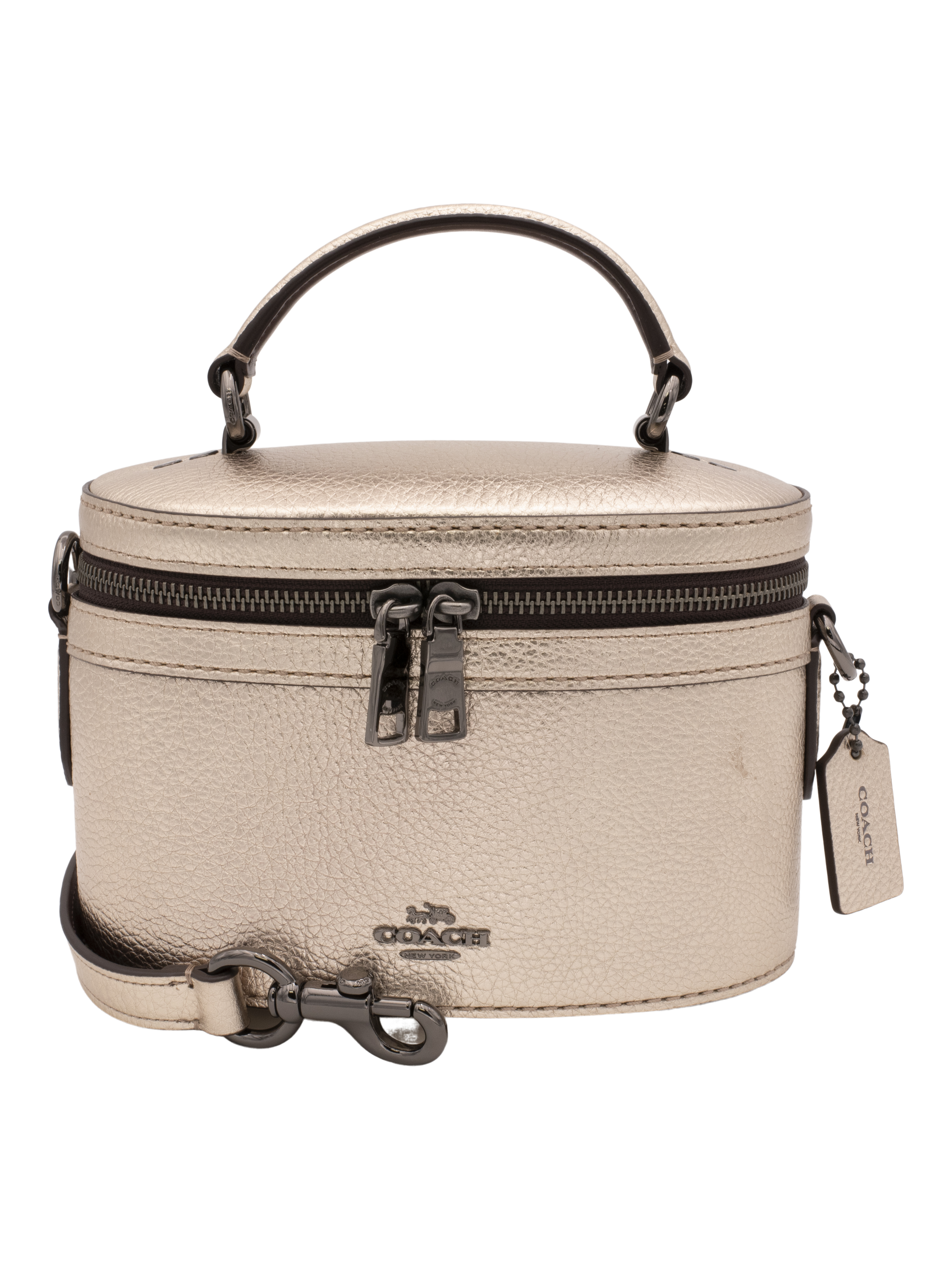 COACH Womens Metallic Trail Bag Gunmetal/Platinum
