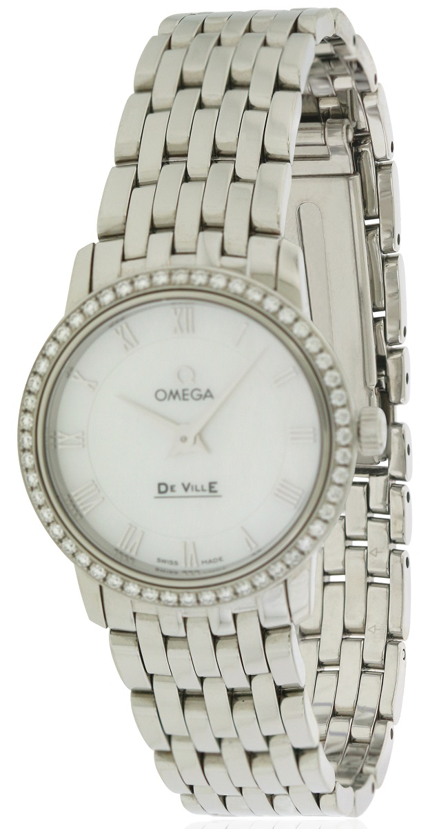 Omega DeVille Stainless Steel Ladies Watch 413.15.27.60.05.001