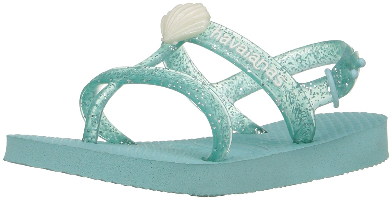 Havaianas Girls Joy Gladiator Sandal - Ice Blue - 27/28 BR - 4135036-642-11/12C