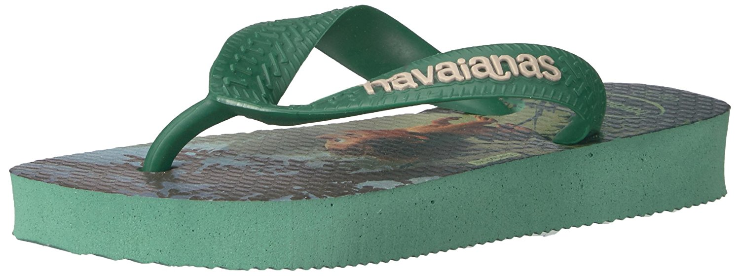 Havaianas Boys Kids Good Dinosaur Sandal Flip Flop - Green Tea 3/4 Y