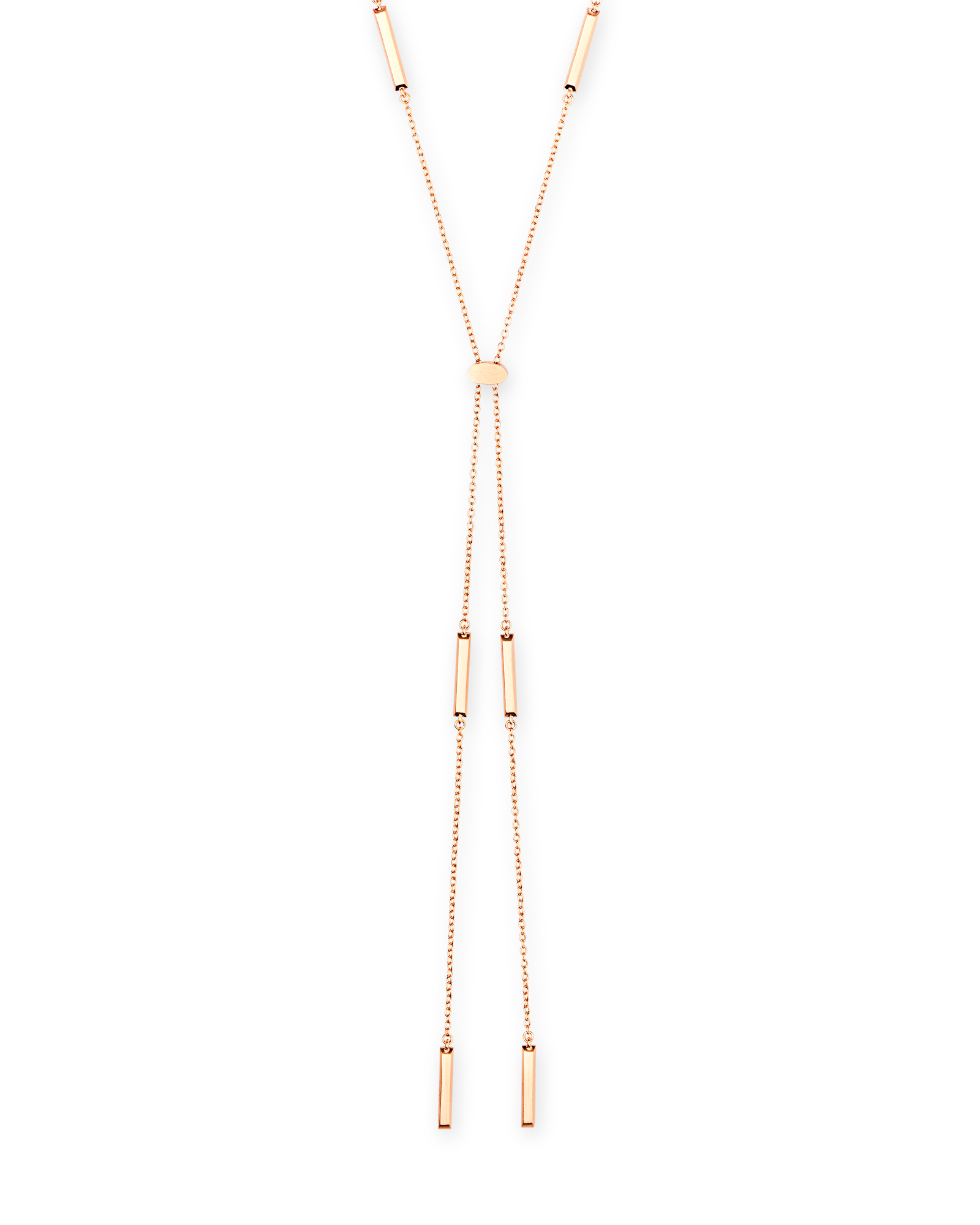Kendra Scott Josephine Y Necklace in Rose Gold - 4217703325