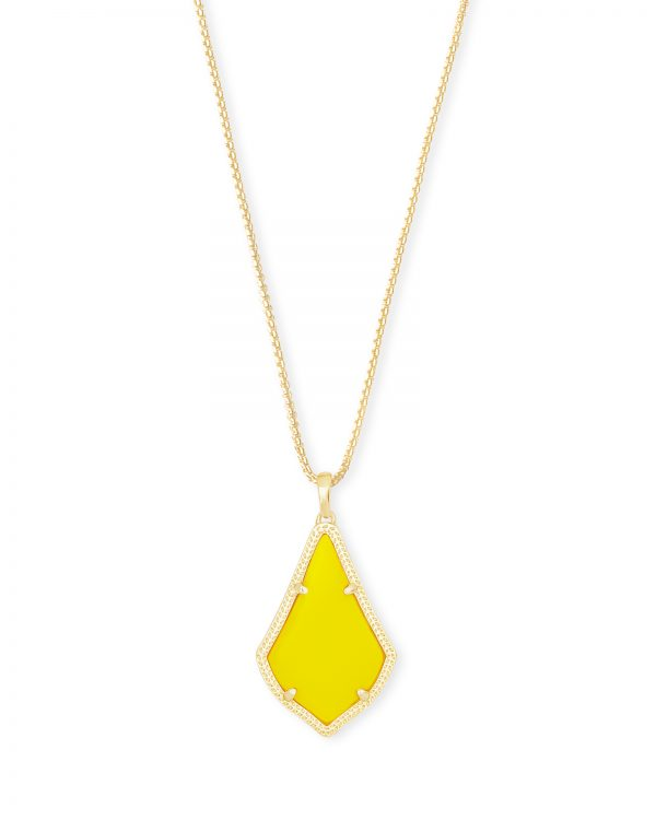 Kendra Scott Alex Gold Metal Yellow Necklace - 4217703981