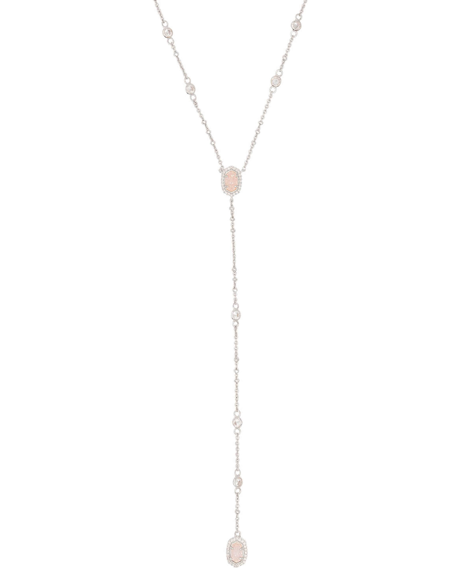 Kendra Scott Claudia Lariat Necklace in Silver
