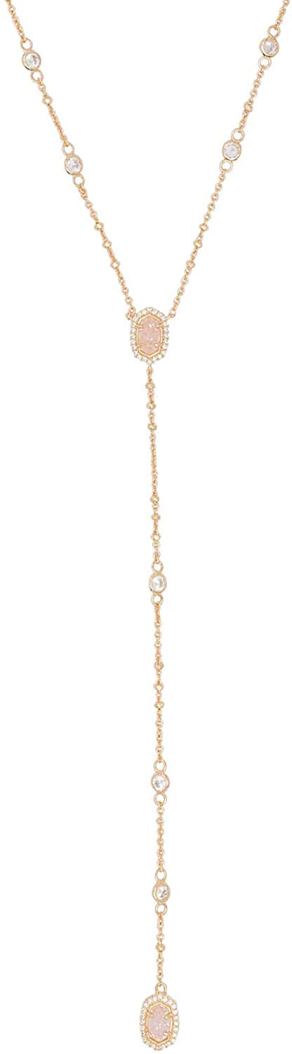 Kendra Scott Claudia Lariat Necklace In Gold/Iridescent Drusy - 4217714167