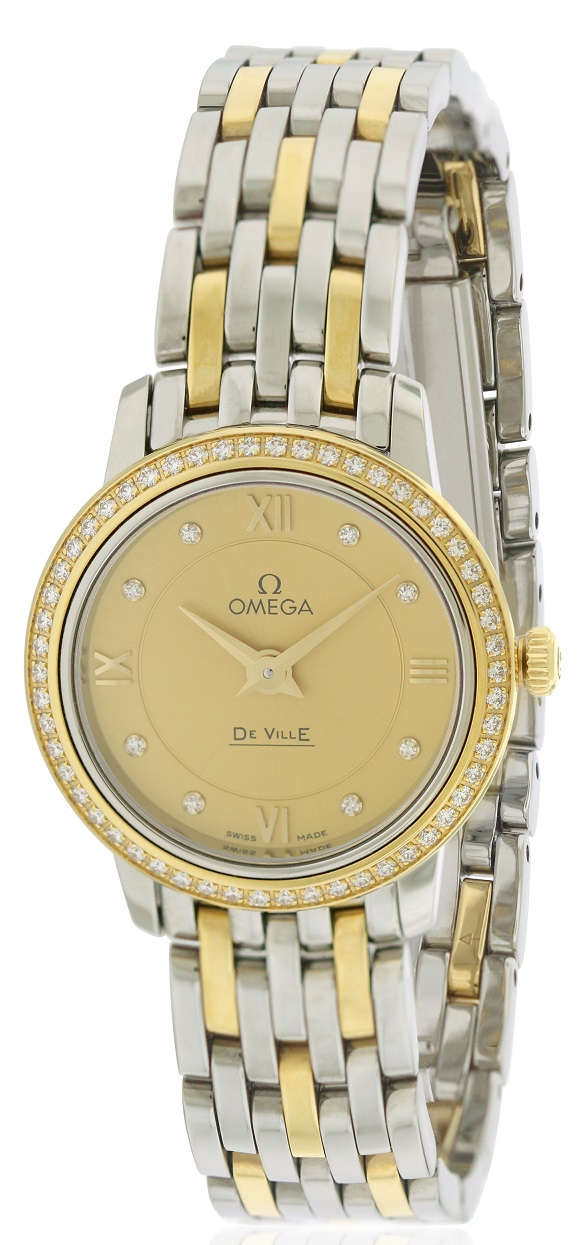 Omega DeVille Prestige Two-Tone Ladies Watch 424.25.24.60.58.001