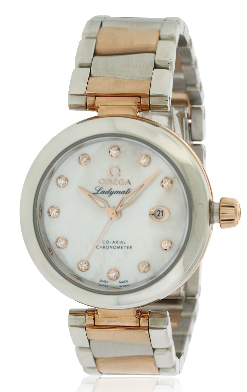 Omega DeVille Ladymatic Two-Tone Ladies Watch 425.20.34.20.55.004