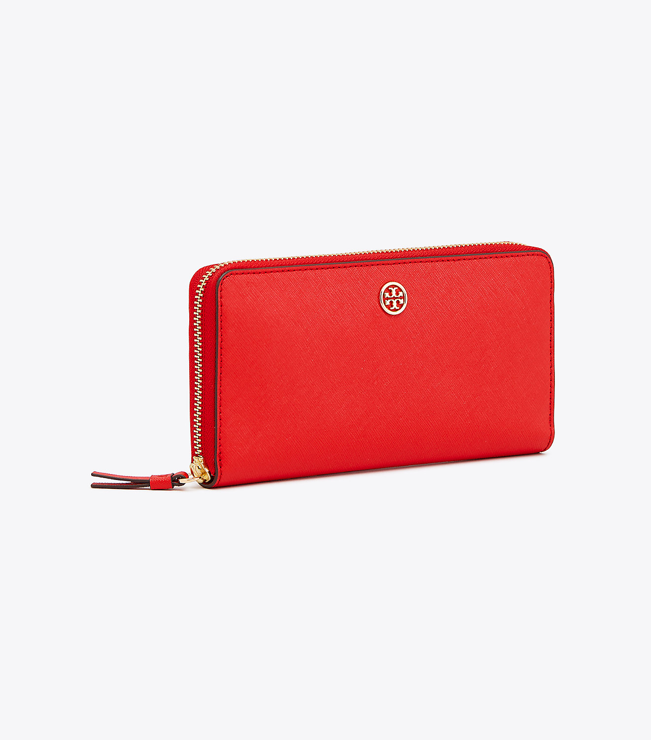 Tory Burch Robinson Zip Continental Wallet - Brilliant Red